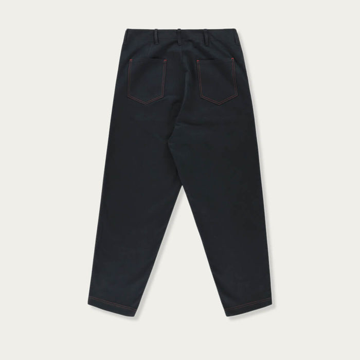 Navy Blue Hockney Tapered Pants | Bombinate