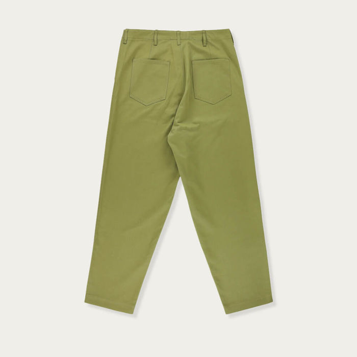 Khaki Hockney Tapered Pants   Bombinate