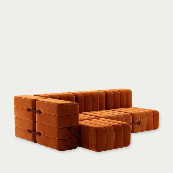 Red Curt Sofa System 9 Modules - Barcelona | Bombinate