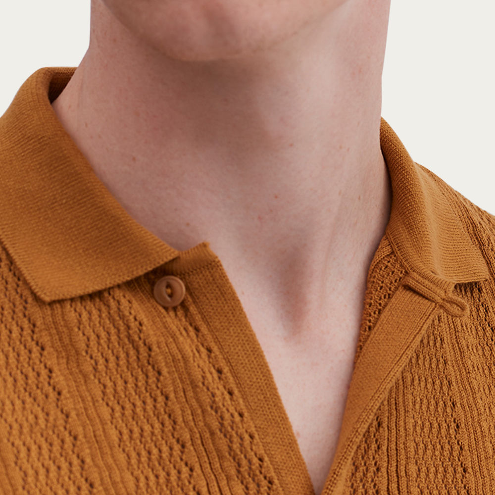Bronze Kodo Knit Shirt | Bombinate