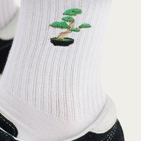 White Socks | Embroidery Bonsai Tree | Bombinate