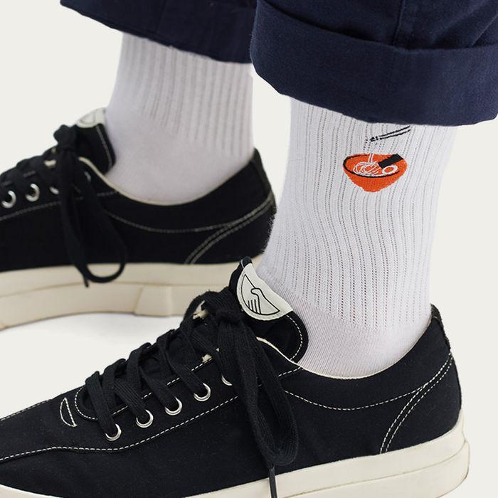 White Socks | Embroidery Ramen | Bombinate