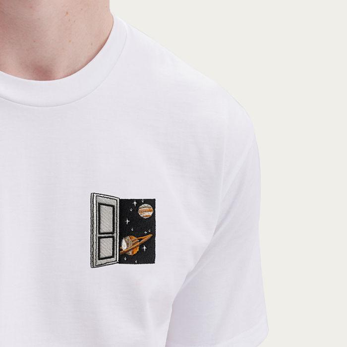 White T Shirt   Spacedoor   Bombinate