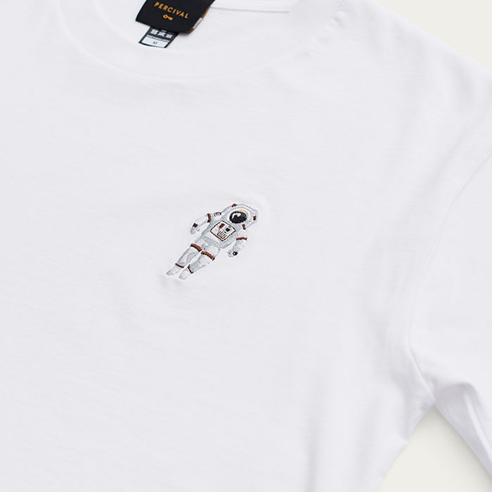 White T Shirt | Spaceman | Bombinate