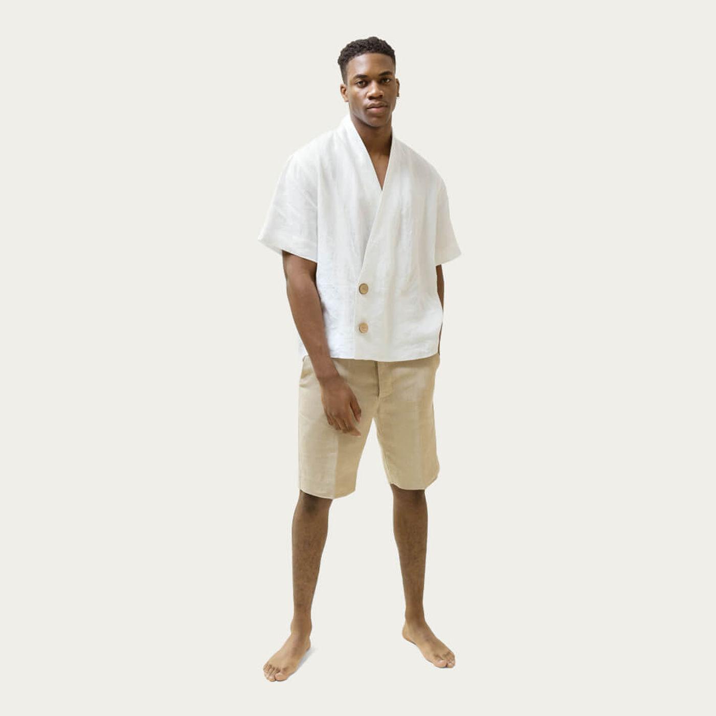 White The Wrap Shirt | Bombinate