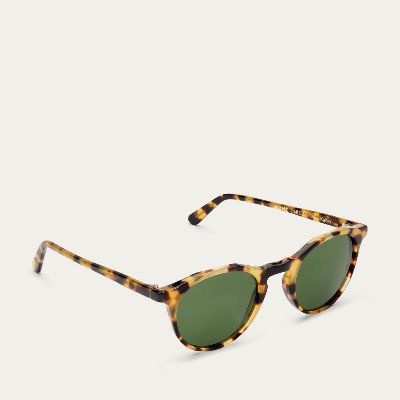 Havana Kallio with Green Lenses Sunglasses   Bombinate