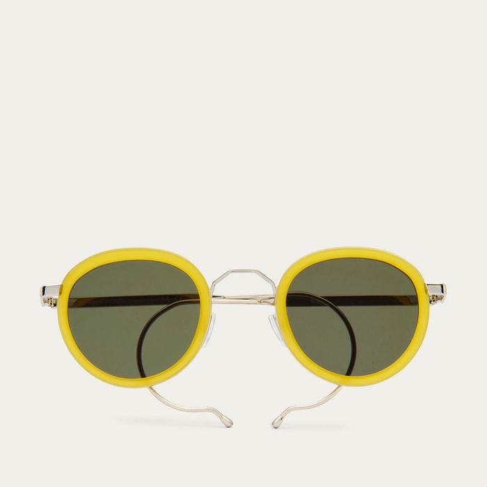 Limoncello London Fields with Green Lenses Sunglasses   Bombinate