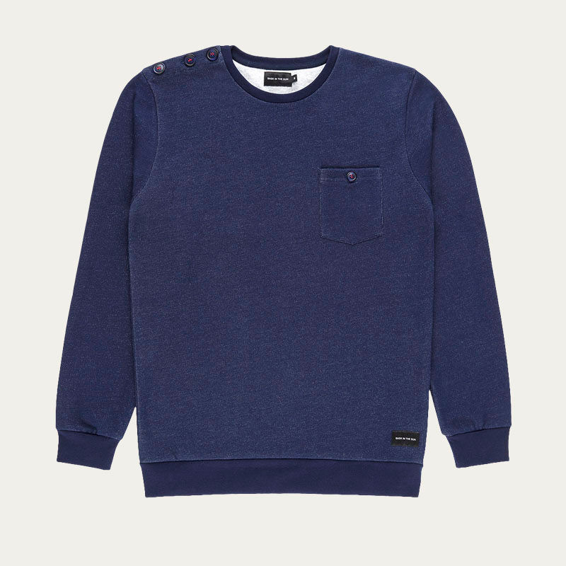 Navy Jacob Sweatshirt  | Bombinate