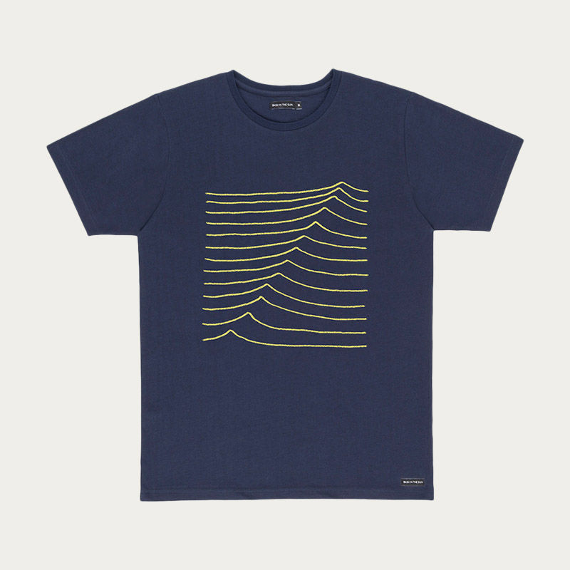 Navy Swell Tee  | Bombinate