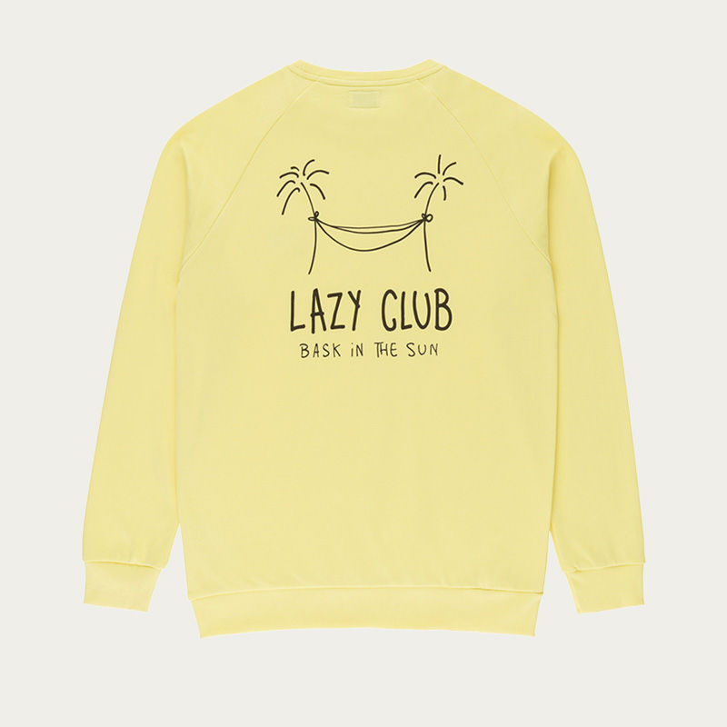 Yellow Lazy Club Sweatshirt | Bombinate