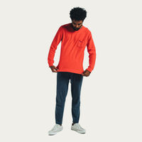 Bright Red Long Sleeve Essential | Bombinate