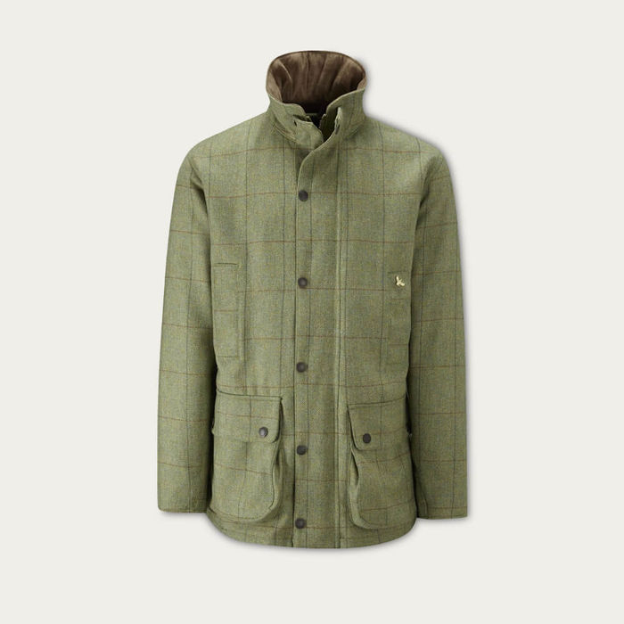 Light Green Check Lowland Tweed Shooting Jacket | Bombinate