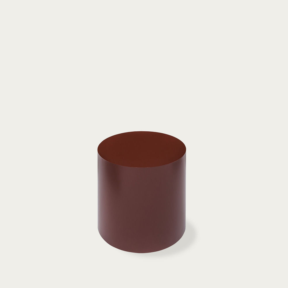 Black-Red Hide Side Table | Bombinate
