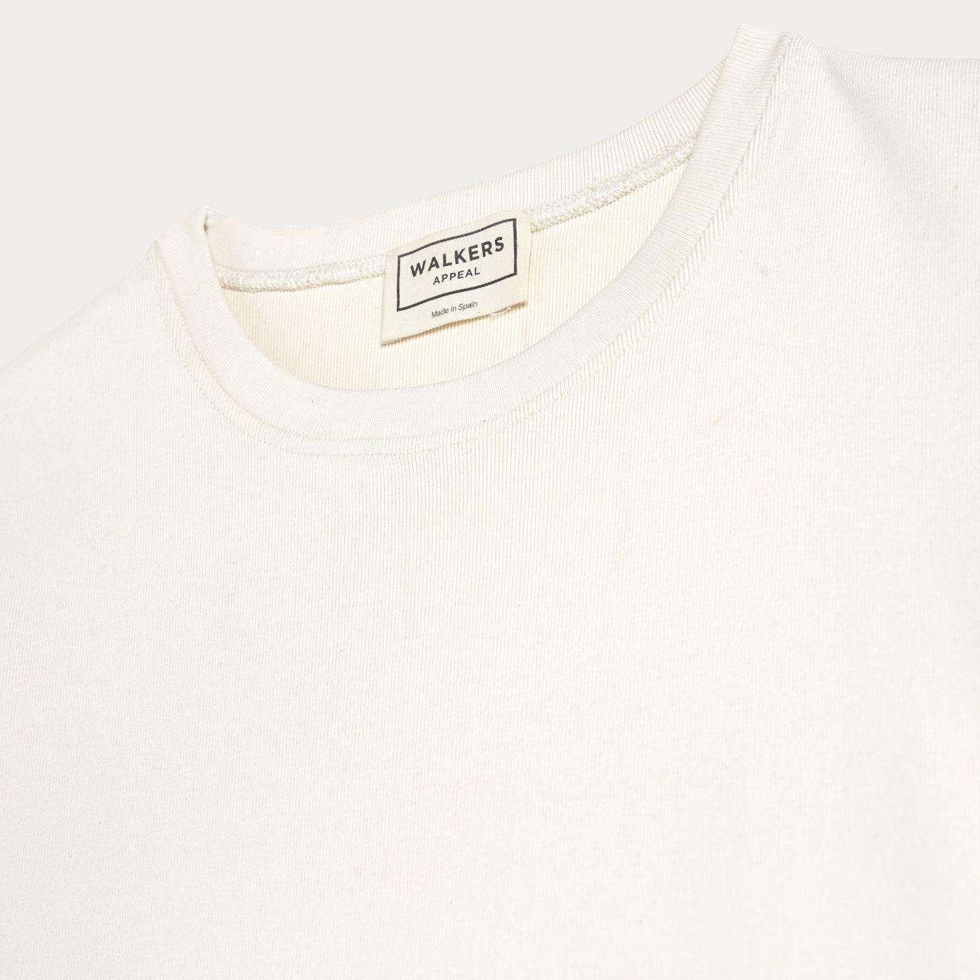 White Organic Cotton T-shirt   Bombinate
