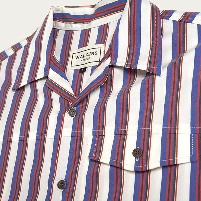 White/Burgundy Kerouac Short Sleeve Shirt | Bombinate
