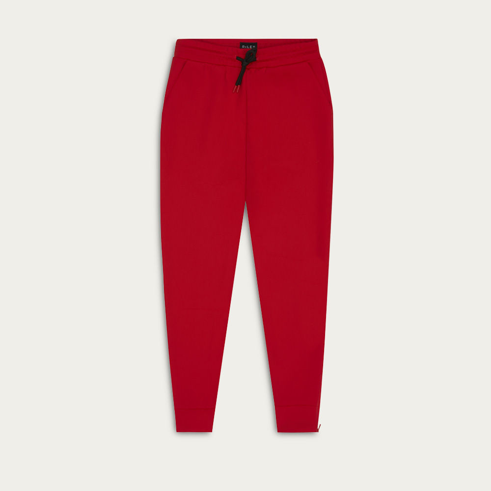 Red Zip Track Pant | Bombinate