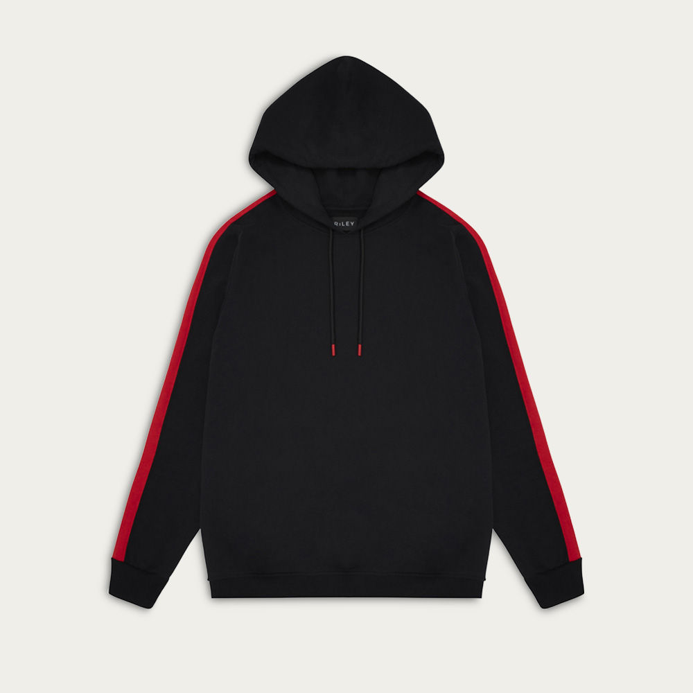 Black and Red Oversized Hoodie | Bombinate