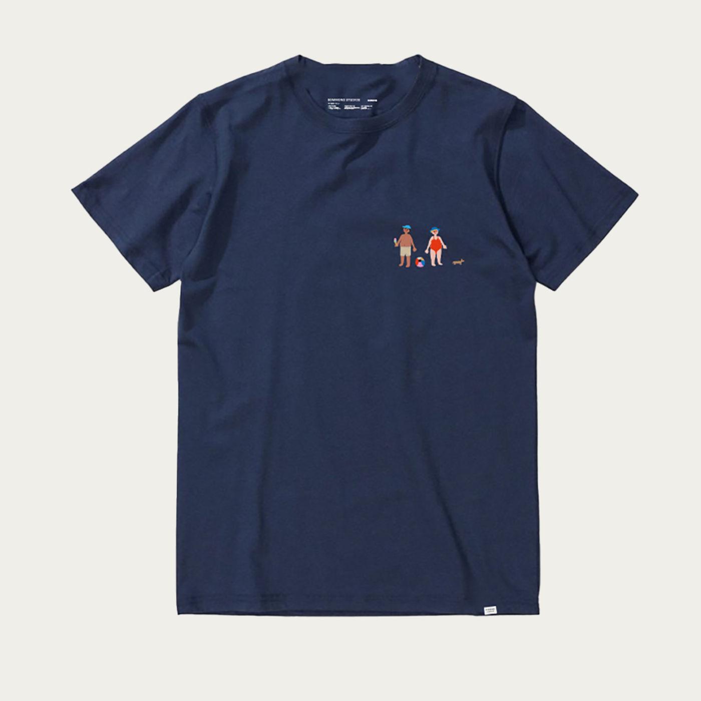Navy Short Sleeve Grandmother T-shirt | Bombinate