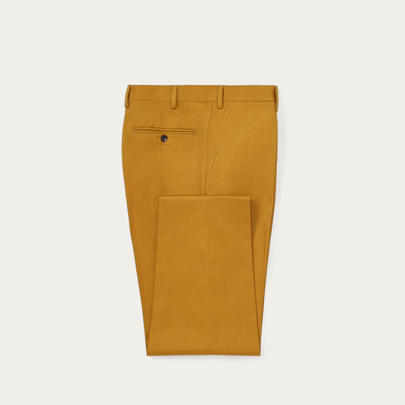 Mustard Moleskin Trousers | Bombinate