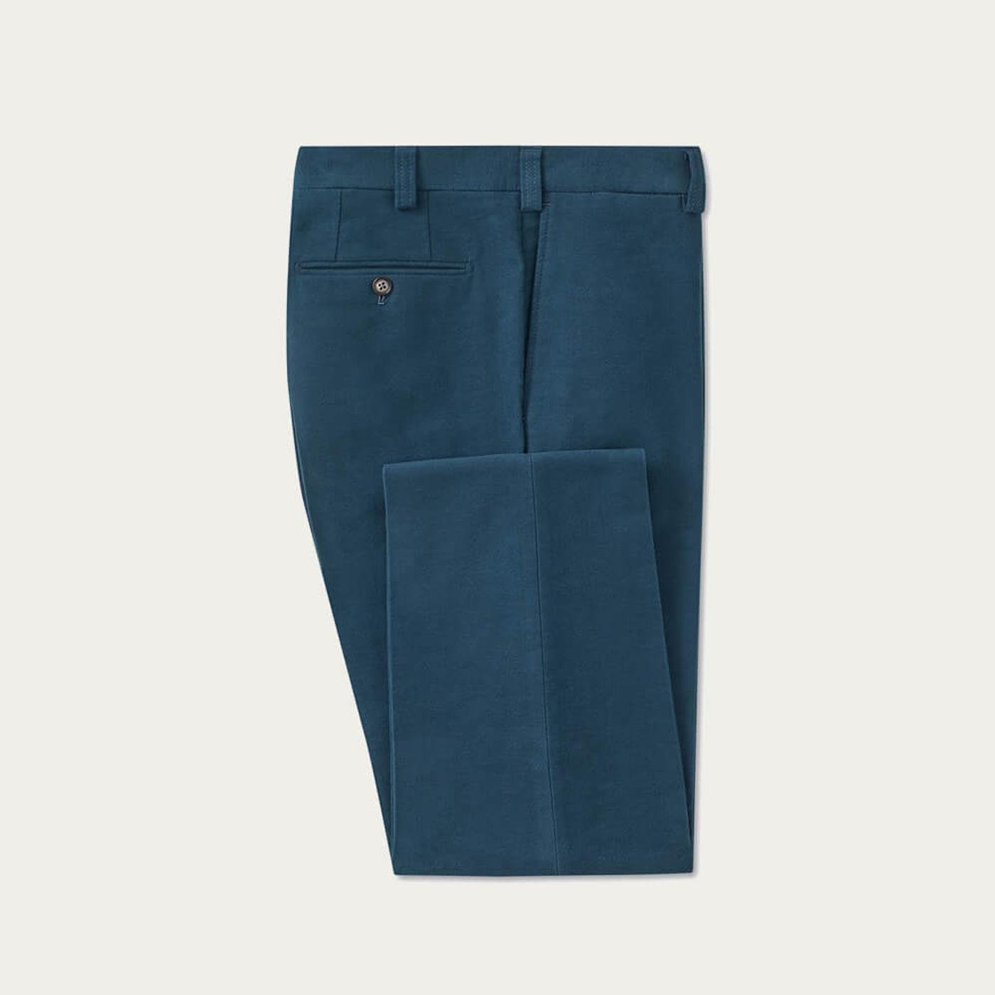 Blue Moleskin Trousers | Bombinate