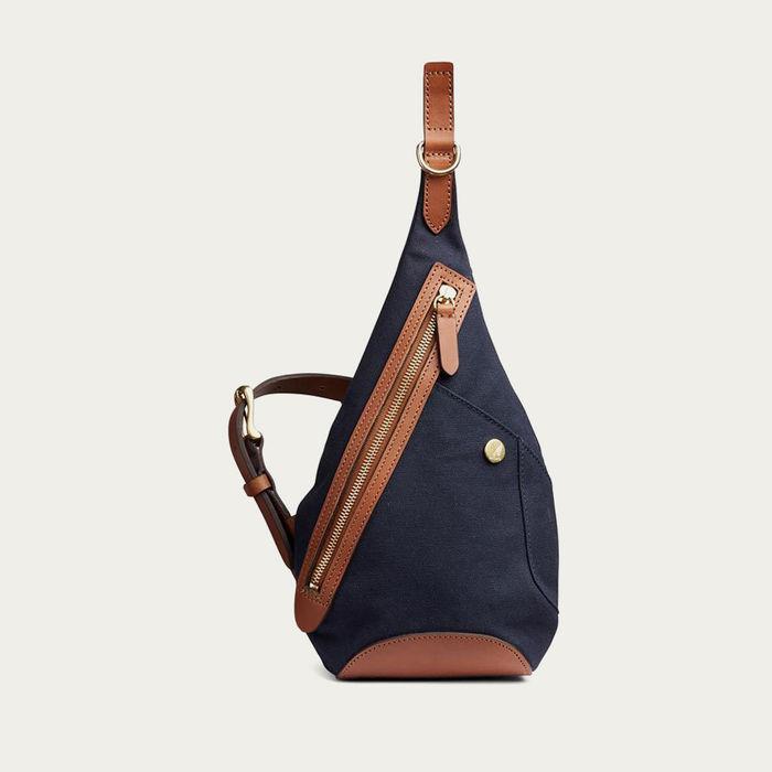 Midnight Blue/Cuoio M/S Drop Bag | Bombinate