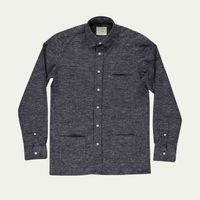 Navy Mesc Castro Shirt | Bombinate