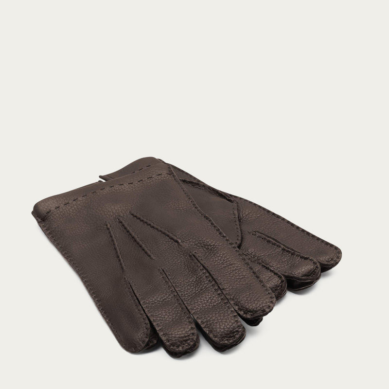 Brown Paolo Deer Leather Gloves 1