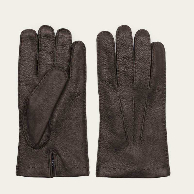 Brown Paolo Deer Leather Gloves 0