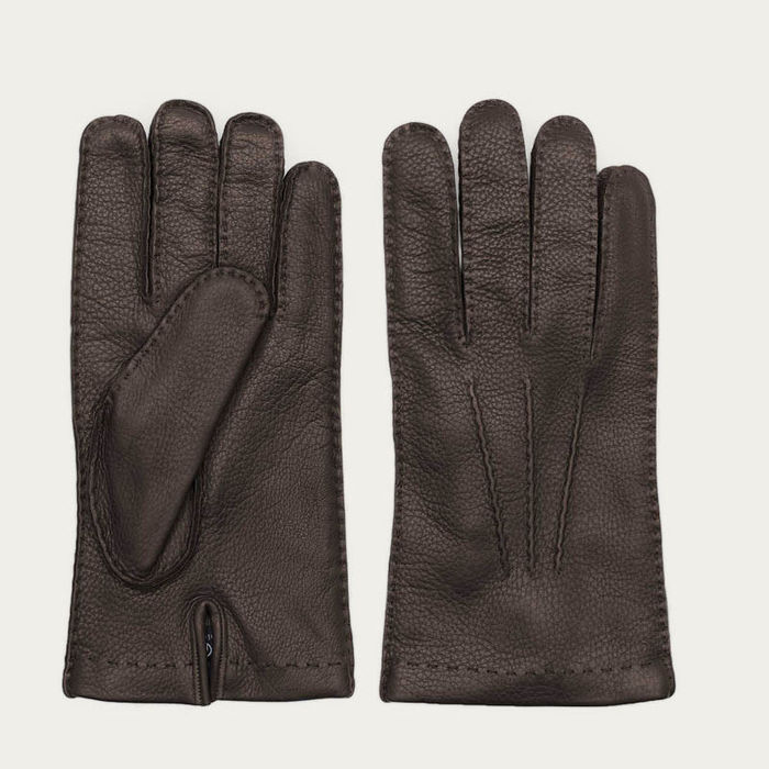 Brown Paolo Deer Leather Gloves | Bombinate