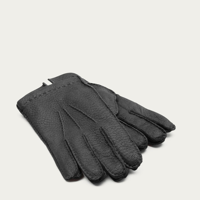 Grey Salvatore Peccary Leather Gloves    Bombinate