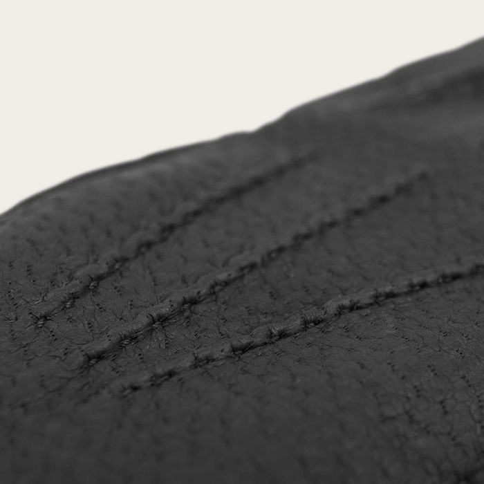 Black Ciro Peccary Leather Gloves  | Bombinate