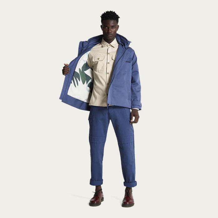 Dark Denim The Field Jacket Artist Collaboration Kim Van Vuuren   Bombinate