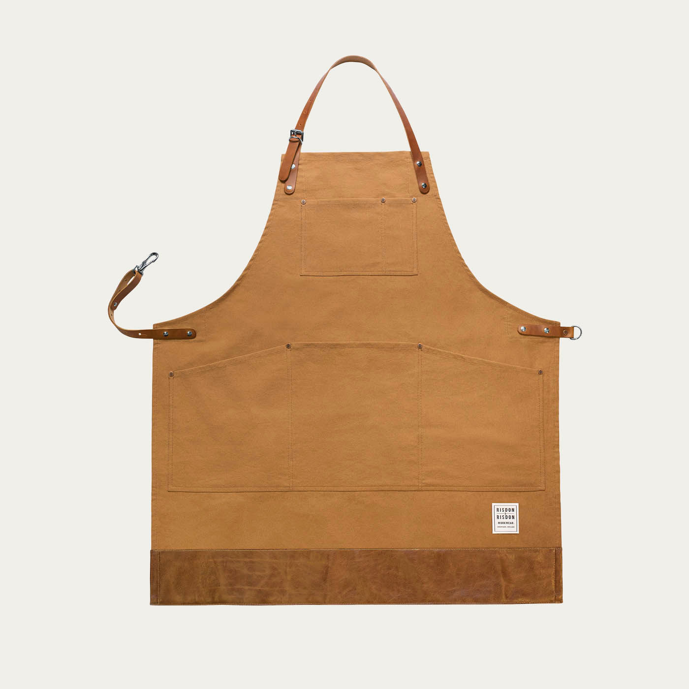 Brown Leather Trade Trimmed Apron   0