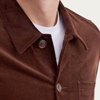 Vincent Button | Espresso Cotton Suede | Bombinate