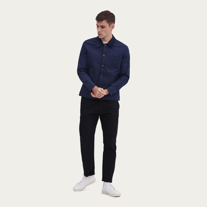Vincent Button | Navy Corduroy Collar | Bombinate