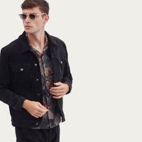 Western Jacket | Black Cotton Suede | Bombinate