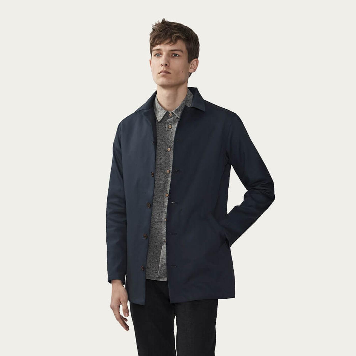 Navy Waterproof Sherlock | Waxed Cotton | Bombinate