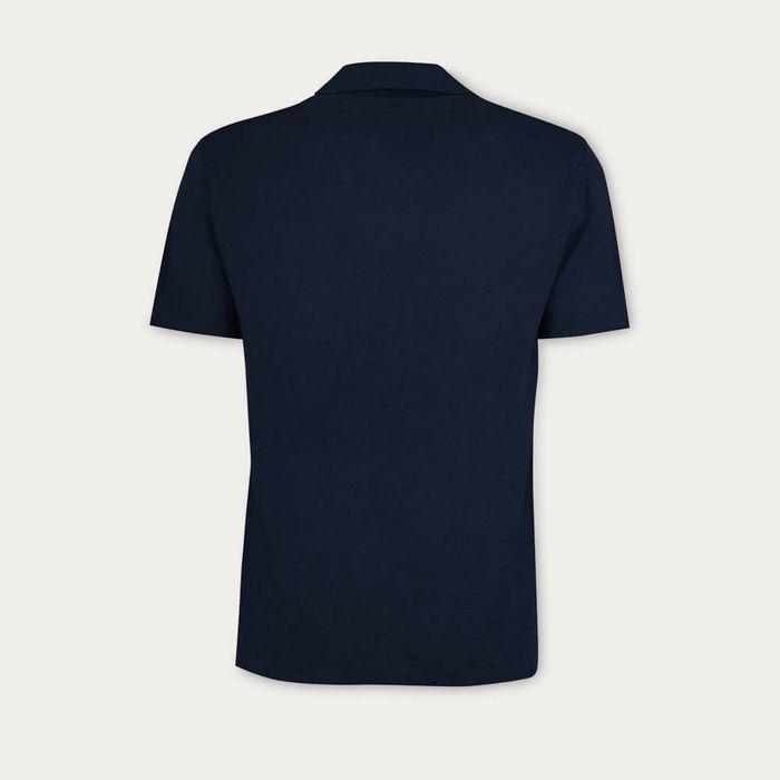 Blue Navy The Linen Polo | Bombinate