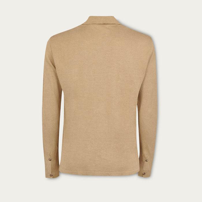 Camel The Linen Knit Shirt | Bombinate