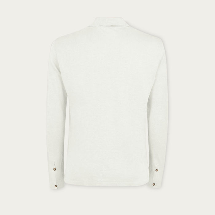 Ivory The Linen Knit Shirt | Bombinate