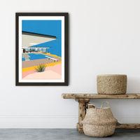LA Stahl House Art Print Black Frame | Bombinate