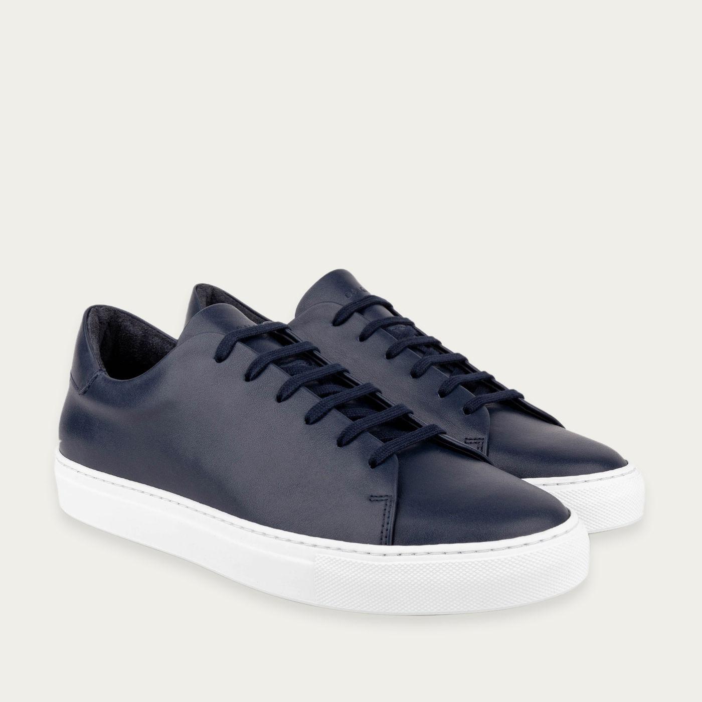Navy Blue Gustavo Low-Top Sneakers | Bombinate