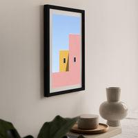 Faceade Art Print Black Frame | Bombinate
