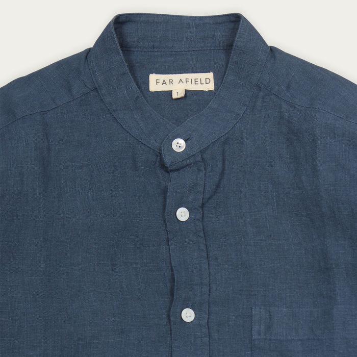 Ensign Blue Linen Twombly L/S Shirt  | Bombinate