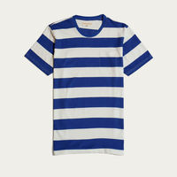 Monaco Blue Bold Stripe T-Shirt | Bombinate