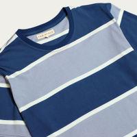 Monaco Blue/Stonewash Blue Dos Stripe T-Shirt | Bombinate