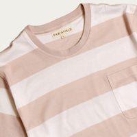 Dust Pink Bold Stripe T-Shirt | Bombinate