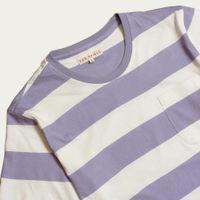 Stonewash Blue Bold Stripe T-Shirt   Bombinate