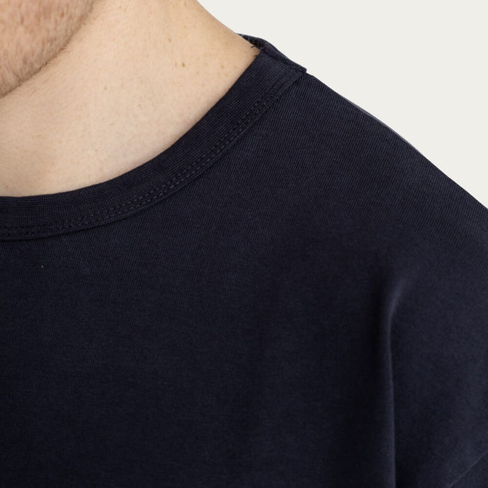 Navy Relaxed Crew Neck T-Shirt | Bombinate