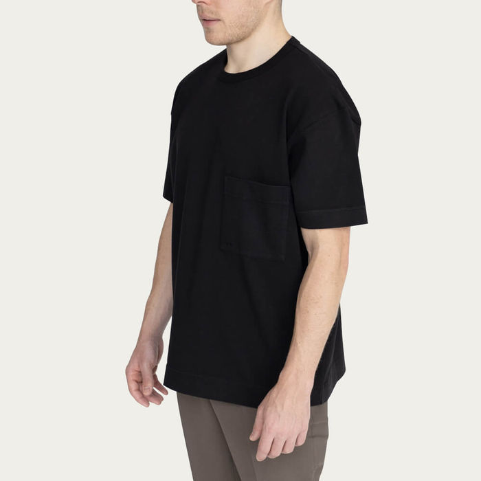 Black Relaxed Crew Neck T-Shirt | Bombinate